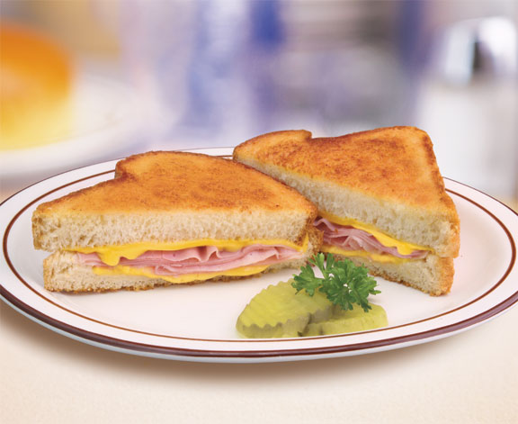 Grilled Ham and Cheese Sandwich